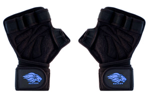 Weight Lifting Gloves Ventilated with Built-In Wrist Wraps