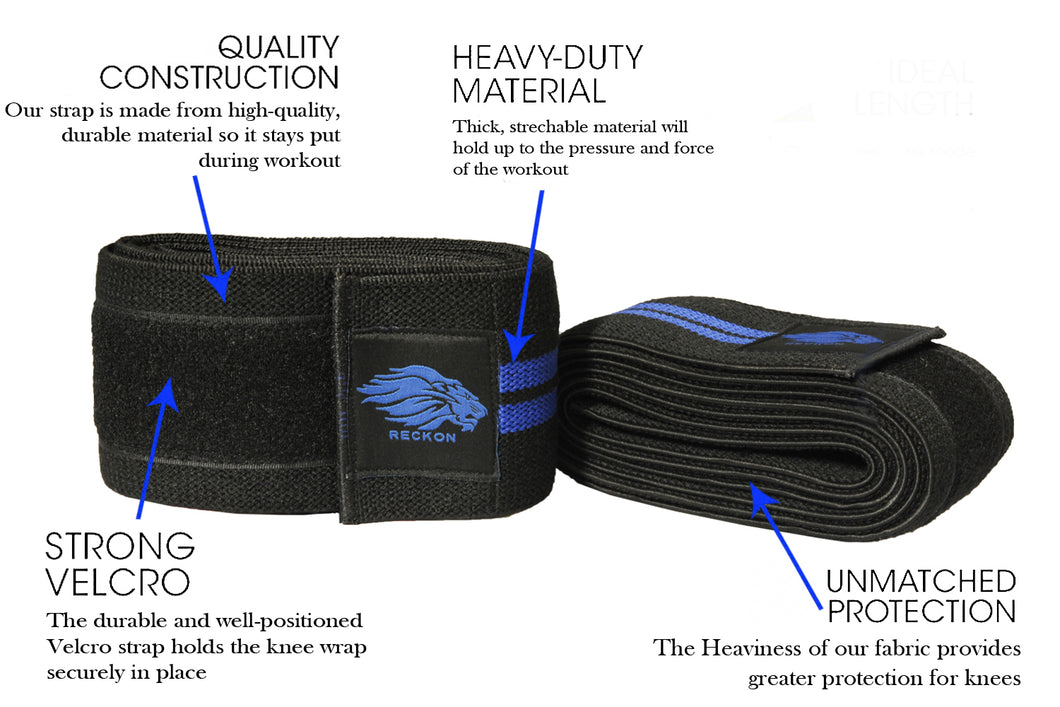 Reckon Knee Wraps (Pair) Professional Grade (2 meter & 2.5 meter)