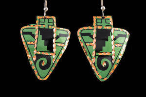 Arrowhead Earrings (Green)