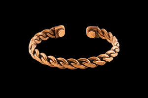 Copper Braided Bracelet with Magnets