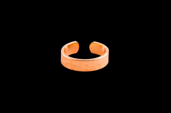 copper dimpled ring made in the USA