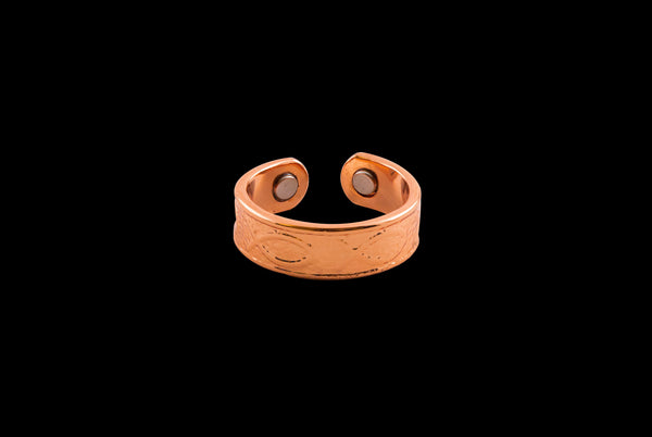 christian fish symbol lunate sigma ichthys ring made of copper