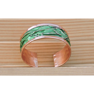 green copper bracelet