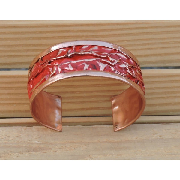pure copper bracelet Red
