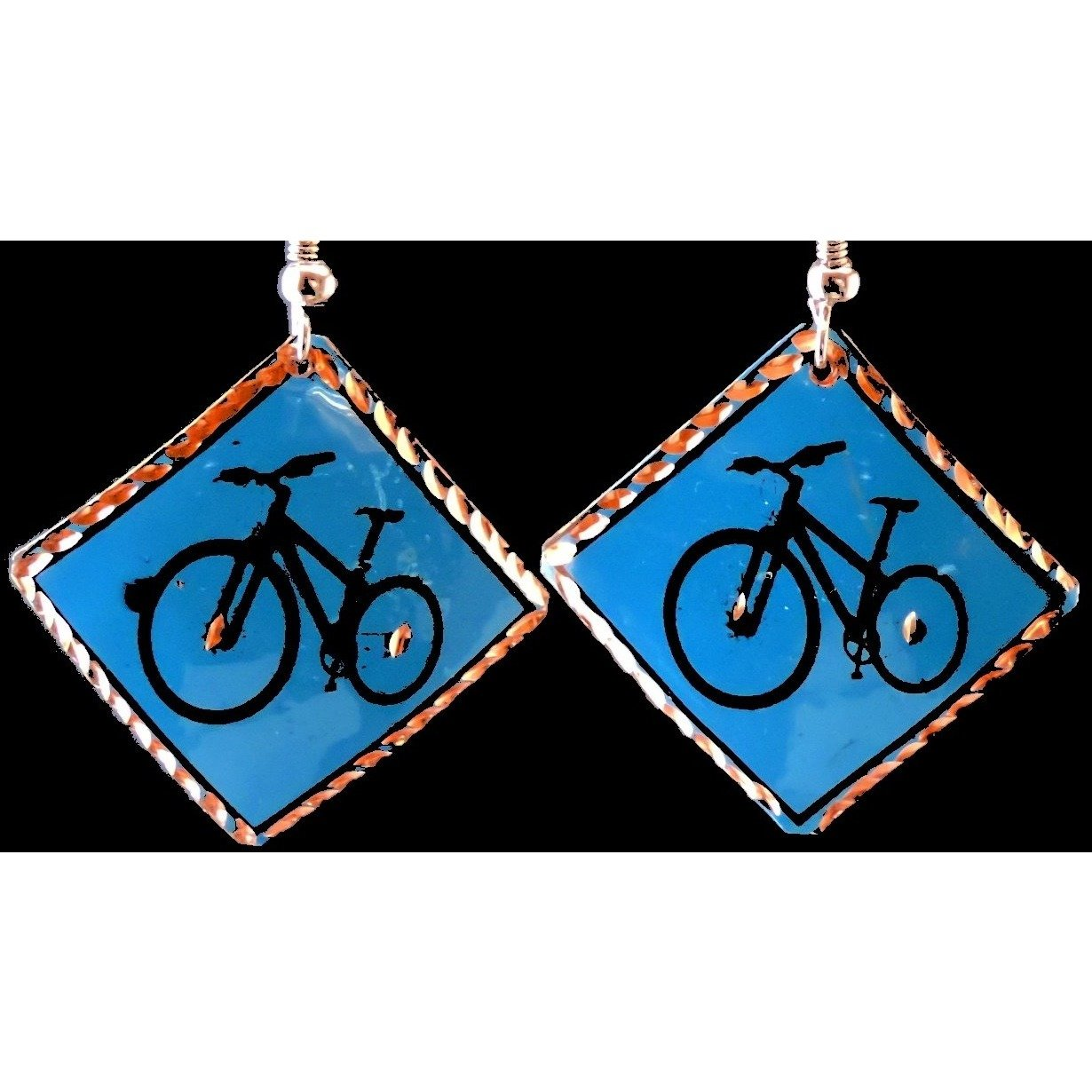 Bike Earrings