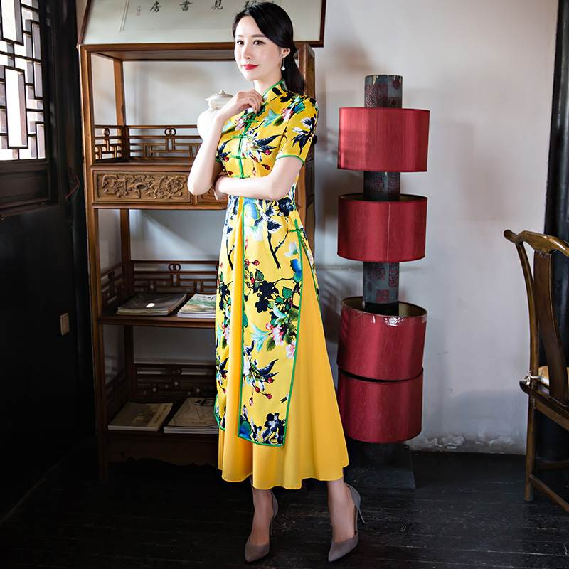 color is yellow qipao