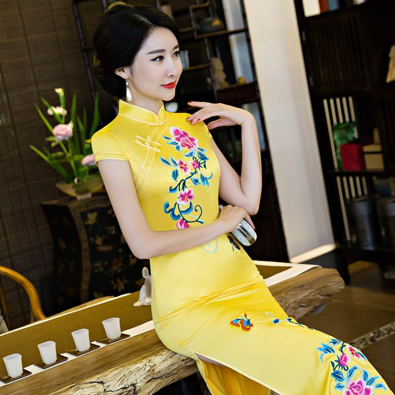 long silk cheongsam