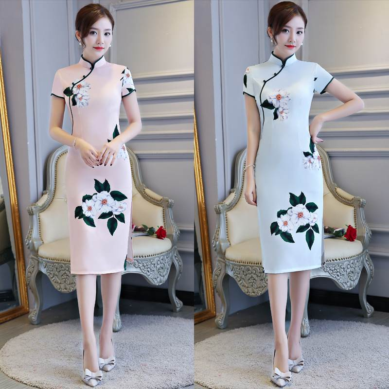 Four-Sided Bomb light blue cheongsam