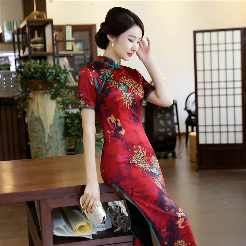 stereoscopic painting long qipao