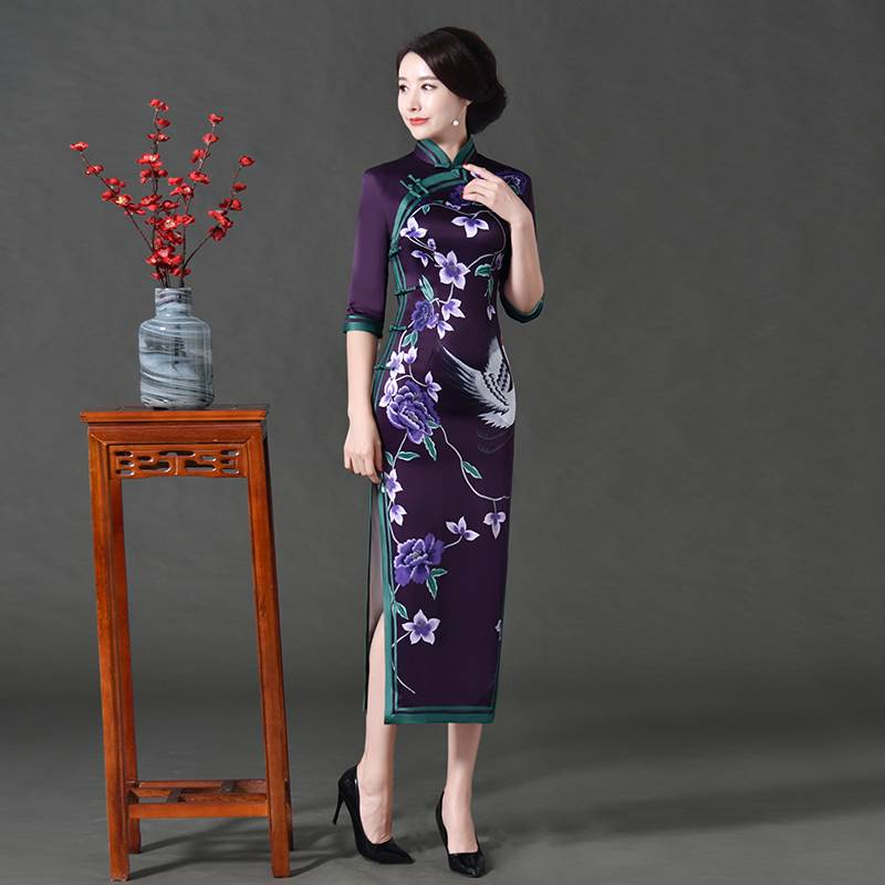 hand painted cheongsam