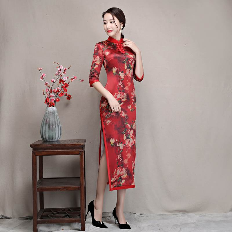 fashionable long cheongsam