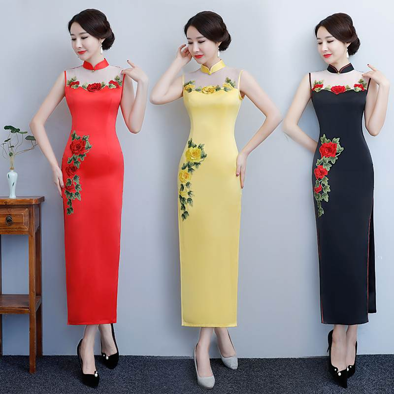 rose flower cheongsam