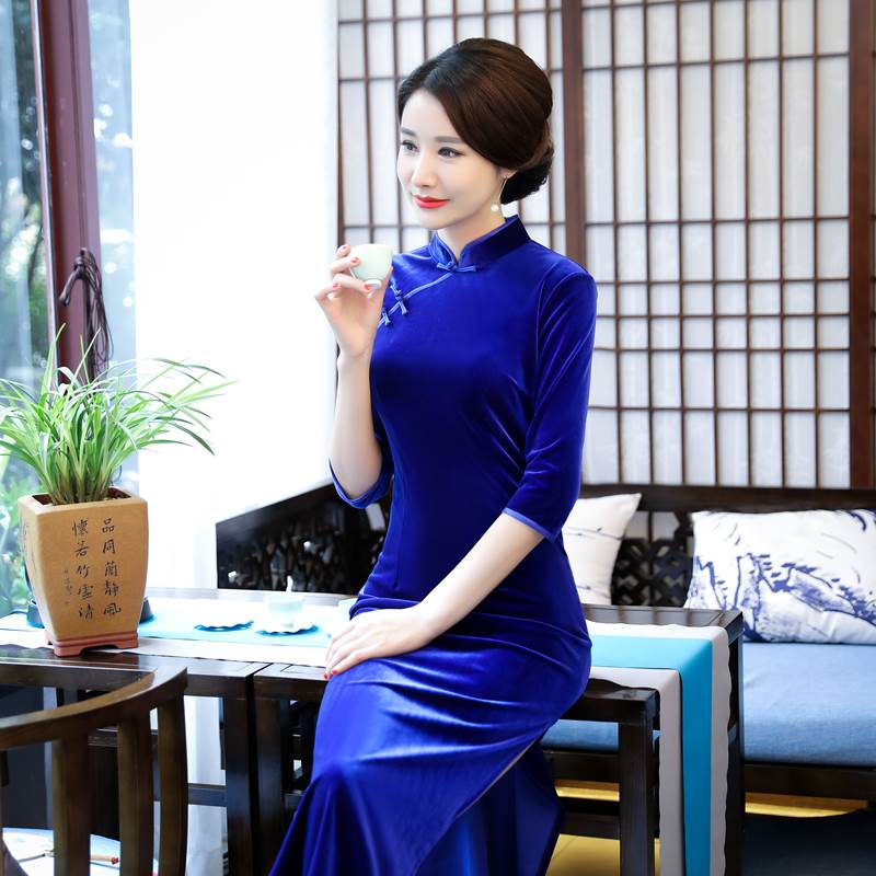 pure color cheongsam