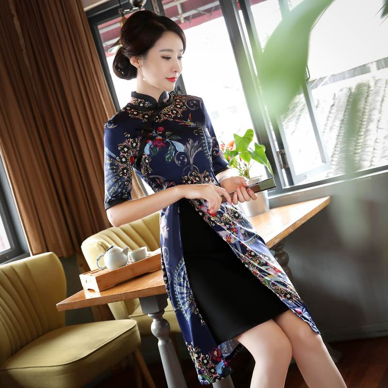 short improved cheongsam