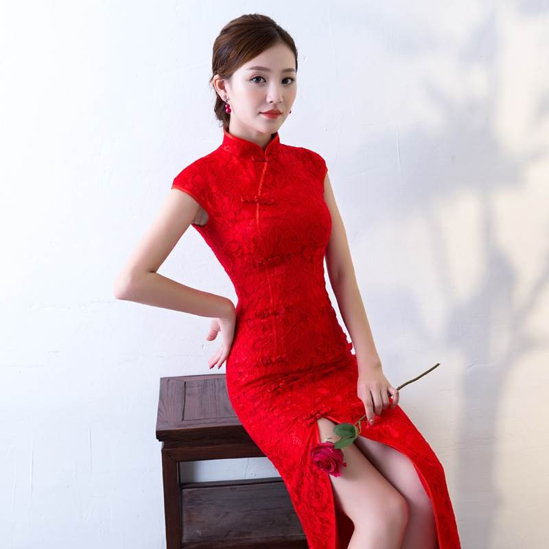 red chinese wedding dresses