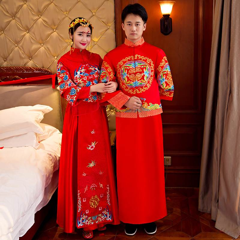 men's wedding embroidery evening gown