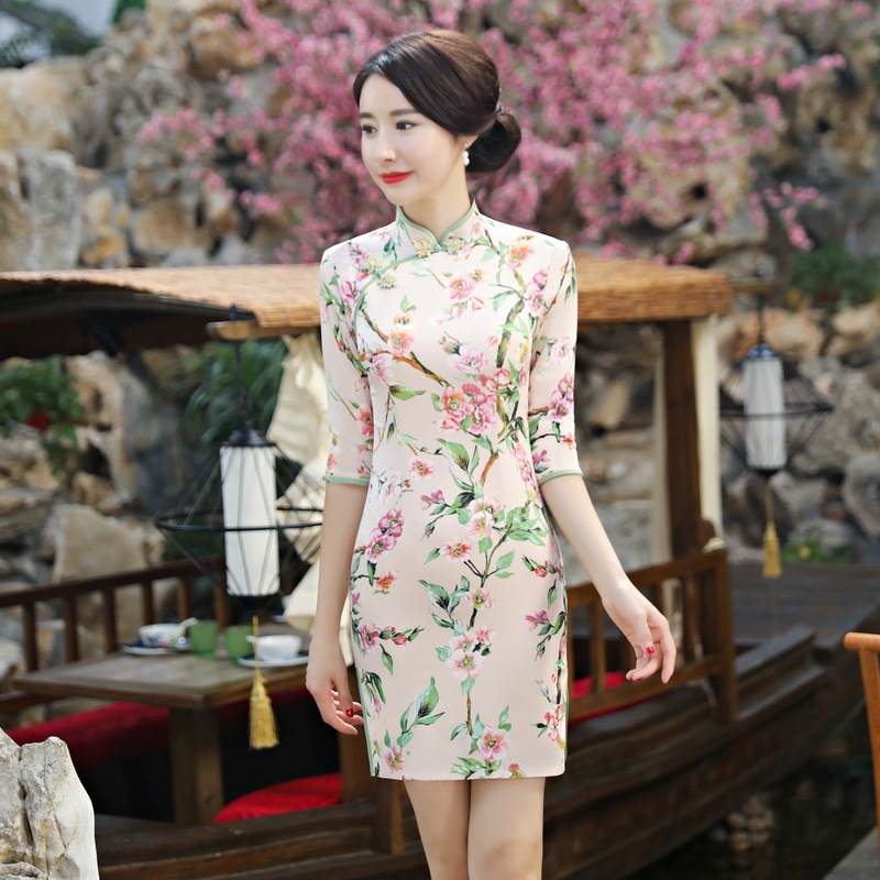 short cheongsam dress