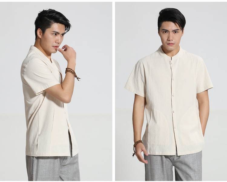 beige chinese clothing