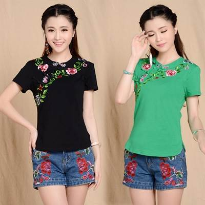 embroidery chinese style shirt
