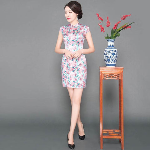 asian silk dress