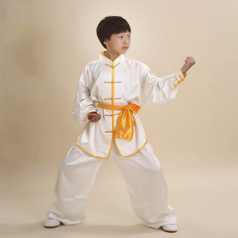 Unisex Kids' Kung Fu Suit Uniforms Long Sleeve Martial Art Costume Suits CKF001