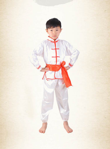 Traditional Chinese Kid Kung Fu Outfit Unisex Tang Costume CKF002