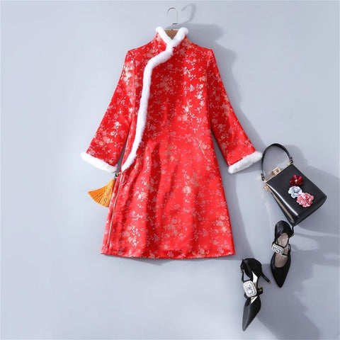 chinese traditional red jacket