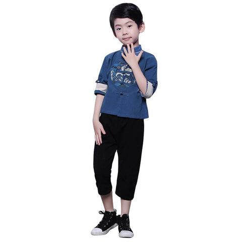 chinese boy tang suit