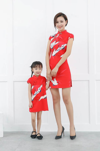 Mother And Daughter Matching Family Look Dress GF8724