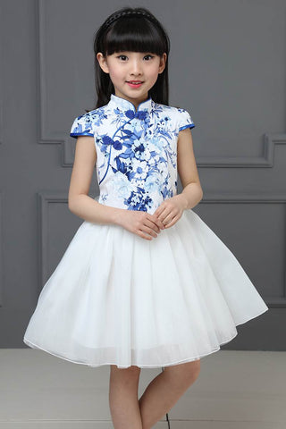 Girl Lace Princess Dress Chinese Traditional Kids Cheongsam HB3807