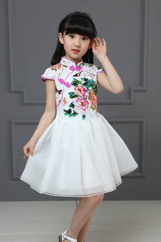 Cheongsam Kids Girls Wedding Party Costume Fairy Couture HB3816