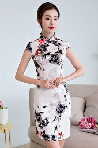 ink painting cheongsam
