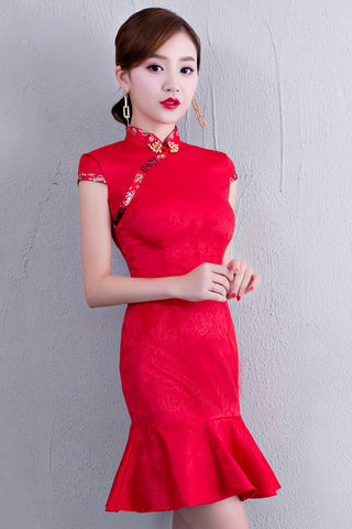 red mermaid cheongsam