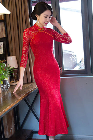chinese fishtail cheongsam