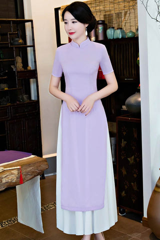 Chinese Style Dress Oriental Long Cheongsam HQ7901