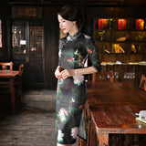 half sleeve qipao dress