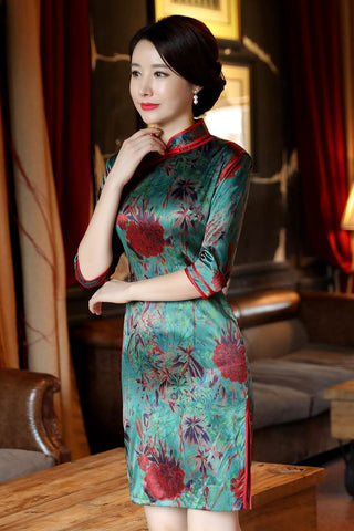 sexy mini short cheongsam