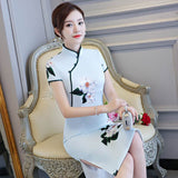elegant light blue cheongsam