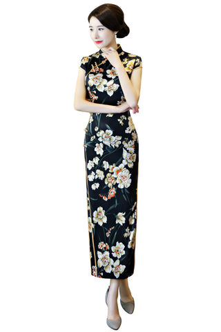 black fashionable cheongsam