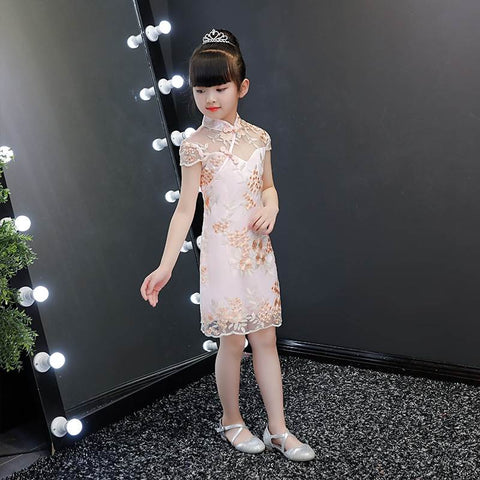 Chinese Style Traditional Little Girls Princess Qipao Dresses HS8086