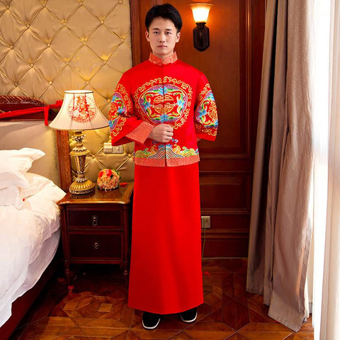 chinese men wedding clothes