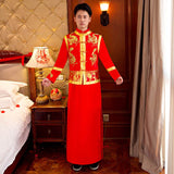 silk red mens clothes groom attire