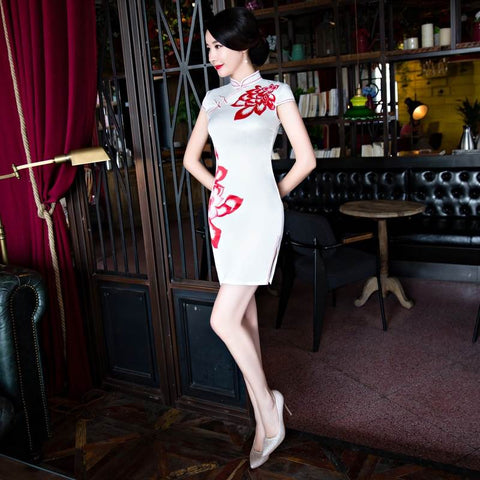 cheongsam short dress