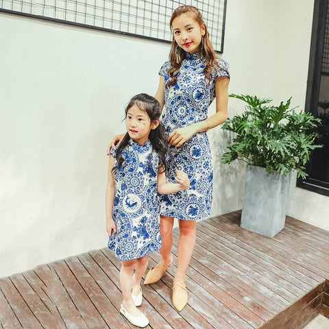 parent-child cheongsam