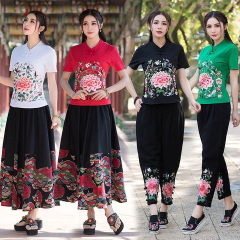 chinese style blouses