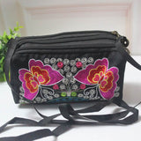 embroidery butterfly messenger bag