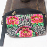 red flower clutch-bag
