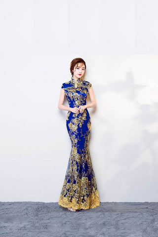 Chinese Traditional Dress Cheongsam Mermaid Wedding Qipao TS7120