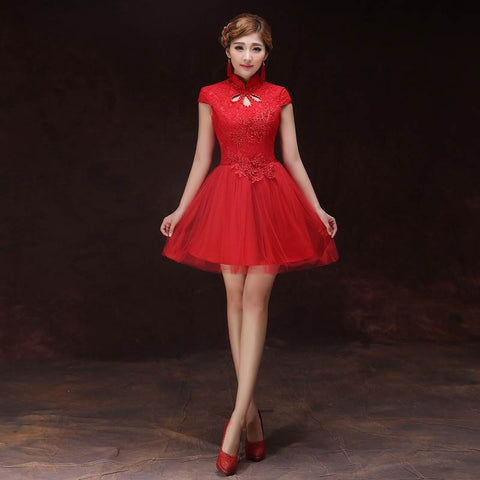 asian red wedding dresses