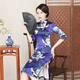 chinese silk women's dresses